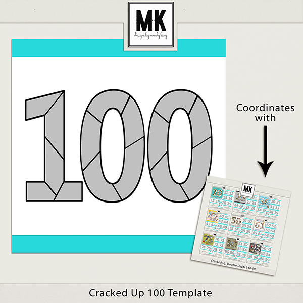 Cracked Up 100 Template Digital Art - Digital Scrapbooking Kits
