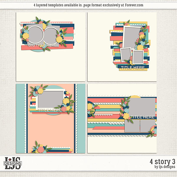 4 Story 3 Digital Art - Digital Scrapbooking Kits