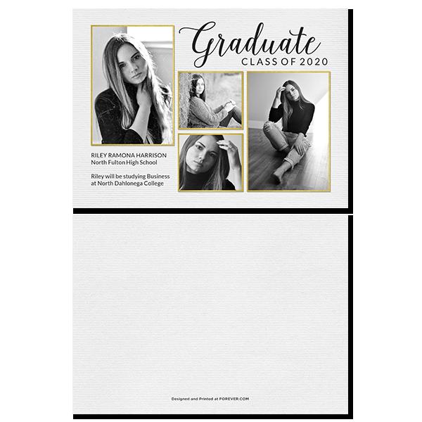 White Script Graduation Card