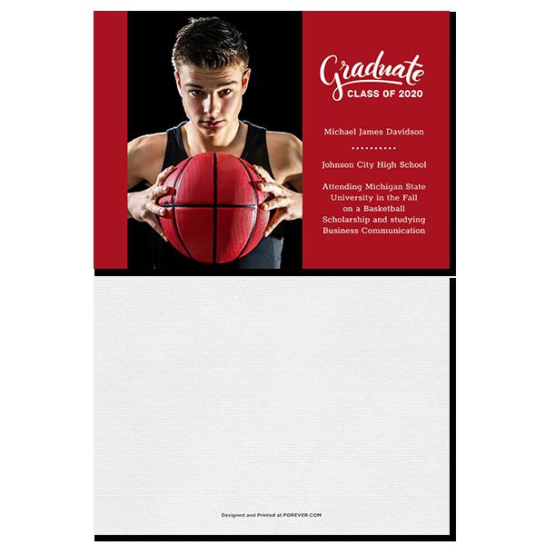 Red Grad Card