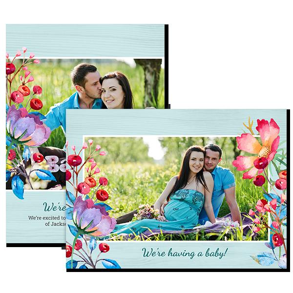 Coastal Berry Floral Card