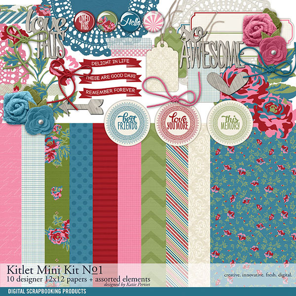 Kitlet Scrapbooking Mini-Kit No. 01