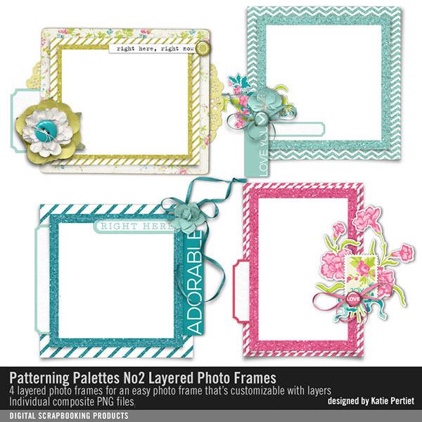 Patterning Palettes No. 02 Layered Photo Frames Digital Art - Digital Scrapbooking Kits