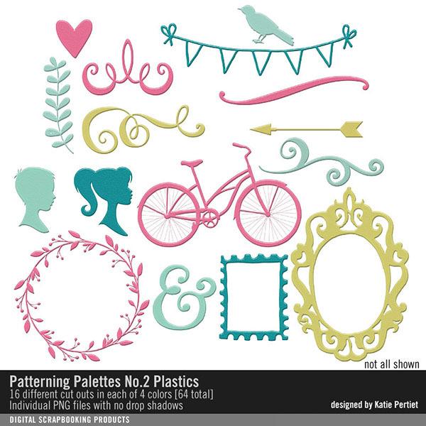 Patterning Palettes No. 02 Plastics Digital Art - Digital Scrapbooking Kits