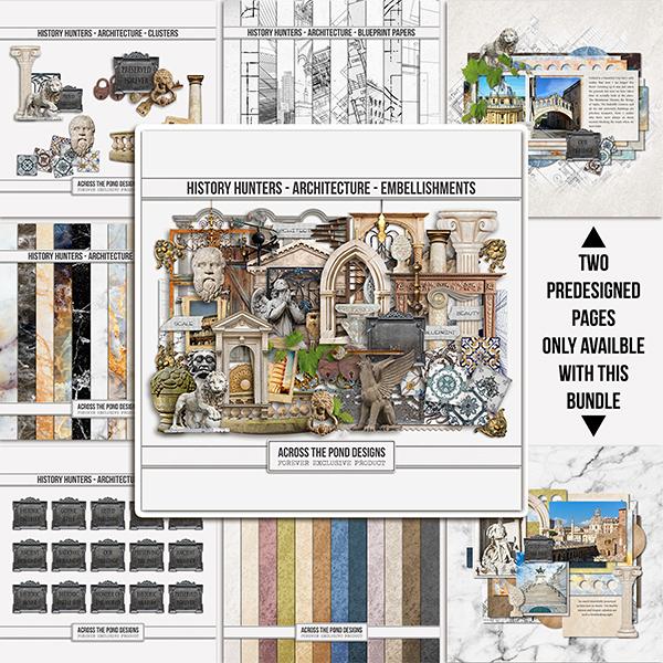 History Hunters - Architecture - Bundle Digital Art - Digital Scrapbooking Kits