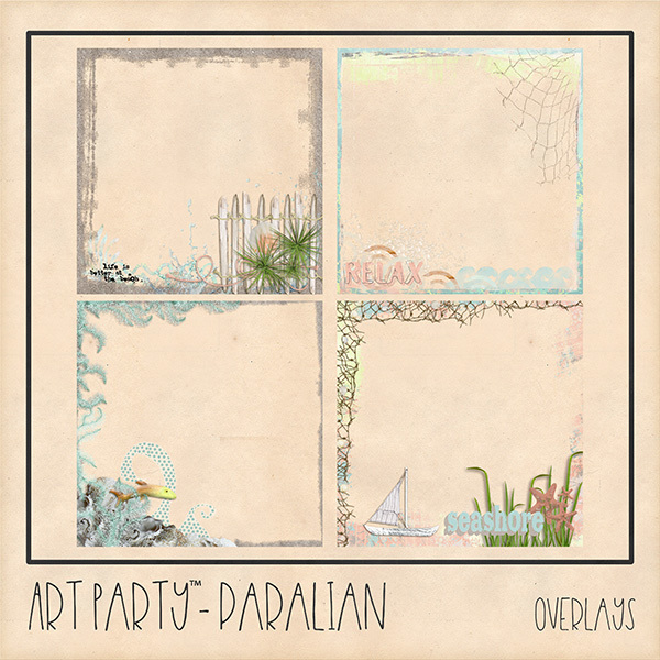 Paralian Overlays Digital Art - Digital Scrapbooking Kits