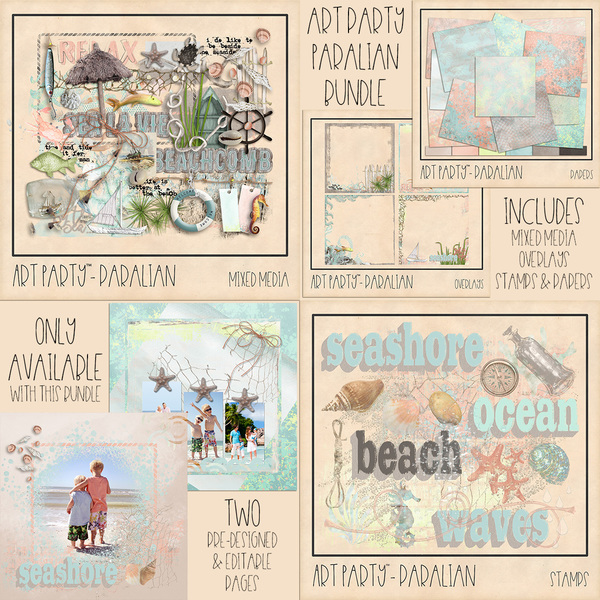 Paralian Complete Collection Digital Art - Digital Scrapbooking Kits
