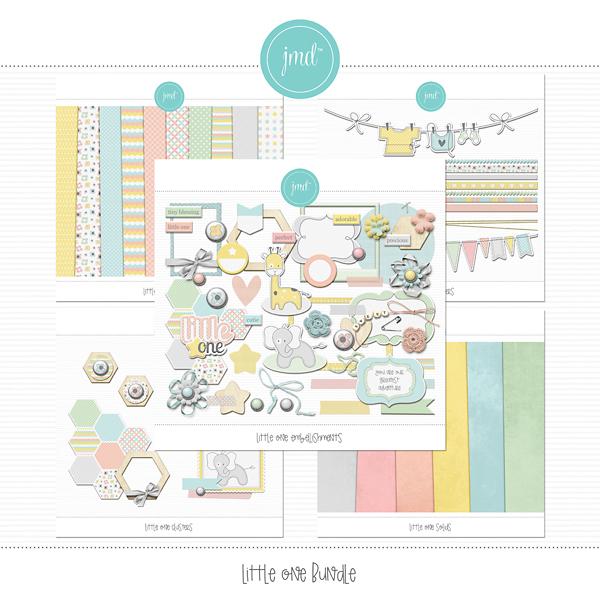 Little One Bundle Digital Art - Digital Scrapbooking Kits