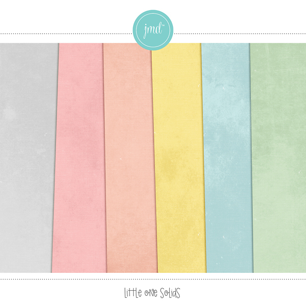 Little One Solids Digital Art - Digital Scrapbooking Kits