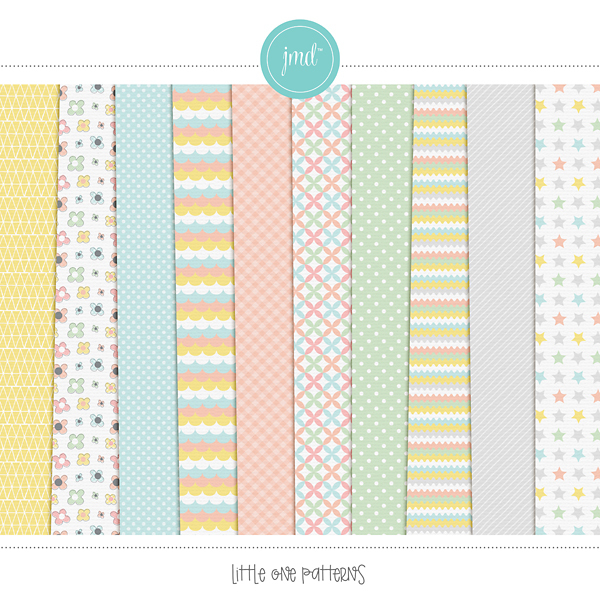 Little One Patterns Digital Art - Digital Scrapbooking Kits