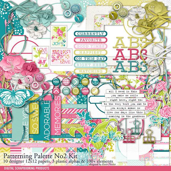 Patterning Palettes No. 02 Scrapbook Kit Digital Art - Digital Scrapbooking Kits