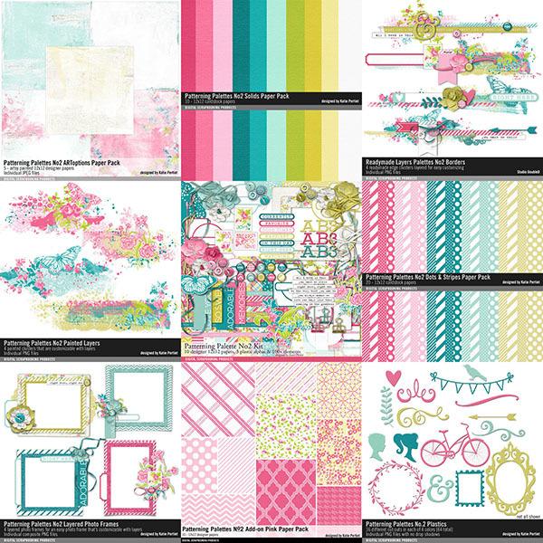Patterning Palettes No. 02 Scrapbooking Bundle Digital Art - Digital Scrapbooking Kits