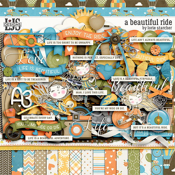 A Beautiful Ride Digital Art - Digital Scrapbooking Kits