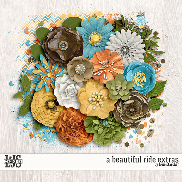 A Beautiful Ride Extras Digital Art - Digital Scrapbooking Kits
