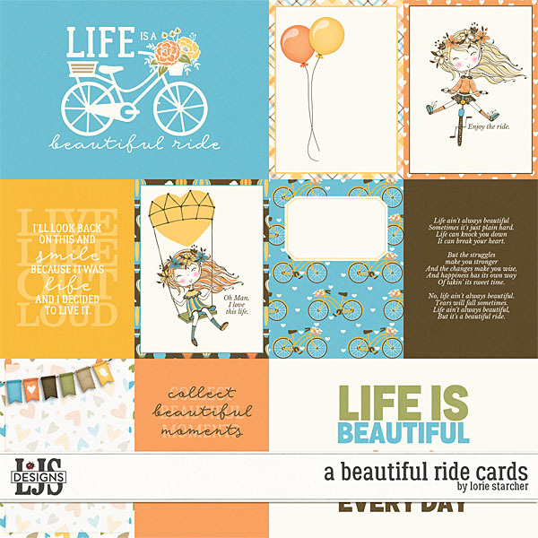 A Beautiful Ride Cards Digital Art - Digital Scrapbooking Kits