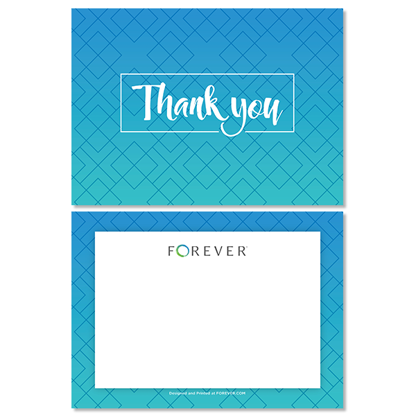 Geometric Ombre Thank You Card