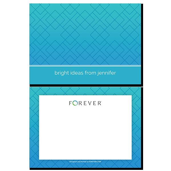 Geometric Ombre Notecard Card