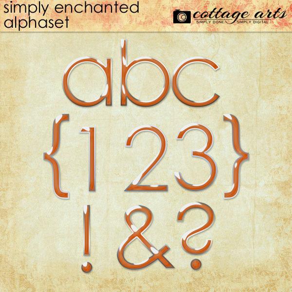 Simply Enchanted AlphaSet Digital Art - Digital Scrapbooking Kits