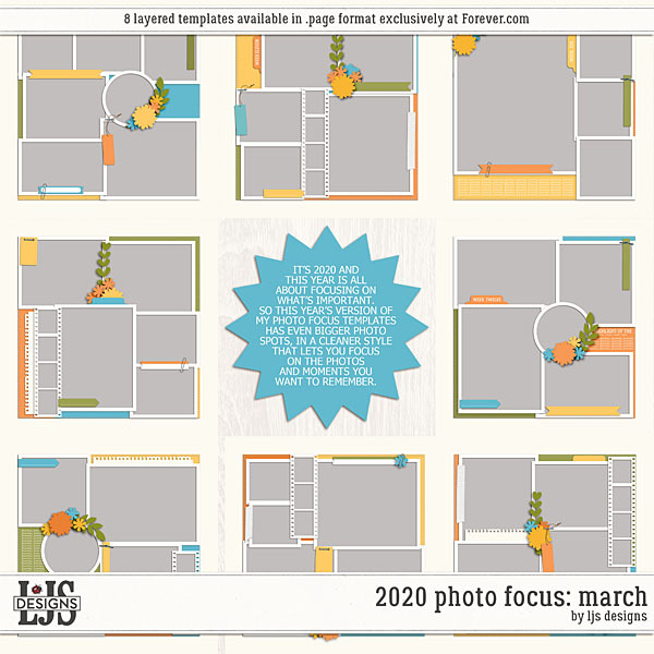 2020 Photo Focus - March Digital Art - Digital Scrapbooking Kits