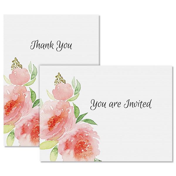 Fashionable Floral Notecard Card