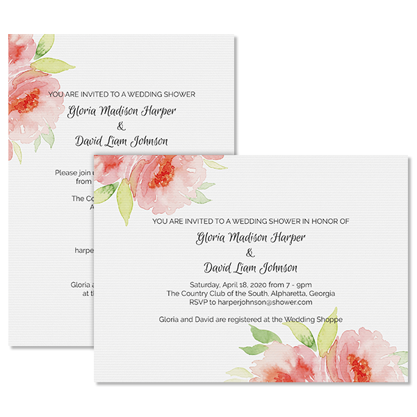 Fashionable Floral Invite Card
