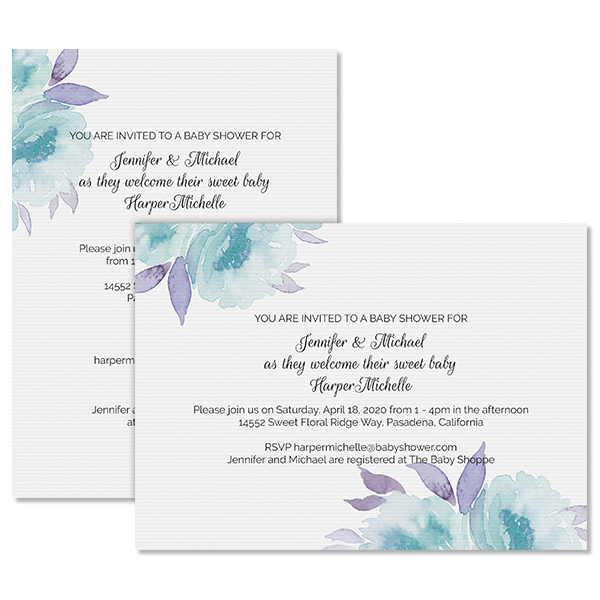 Sweet Floral Invite Card
