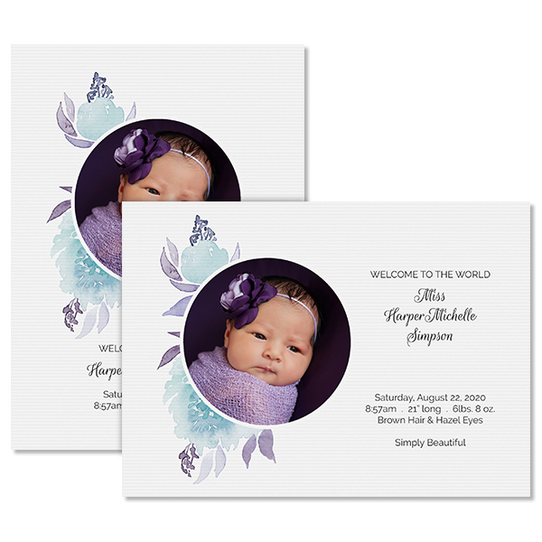 Sweet Floral Invite with Photo Card