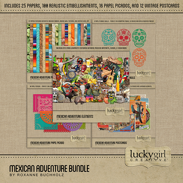Mexican Adventure Bundle Digital Art - Digital Scrapbooking Kits