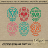 Mexican Adventure Papel Picado Skulls