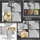 Artistic License Taped Template Set Bonus Bundle