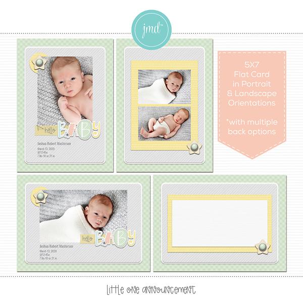 Little One Announcement Digital Art - Digital Scrapbooking Kits
