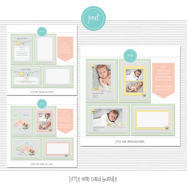 Little One Card Bundle Digital Art - Digital Scrapbooking Kits