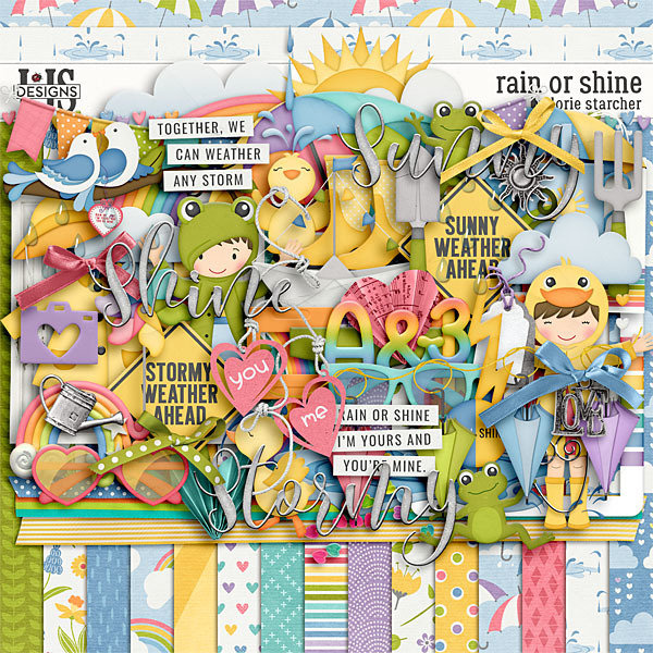 Rain Or Shine Digital Art - Digital Scrapbooking Kits