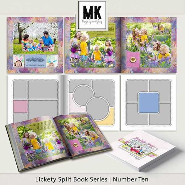 Lickety Split Book Series Number Ten Digital Art - Digital Scrapbooking Kits