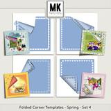 Folded Corner Templates - Spring - Set 4