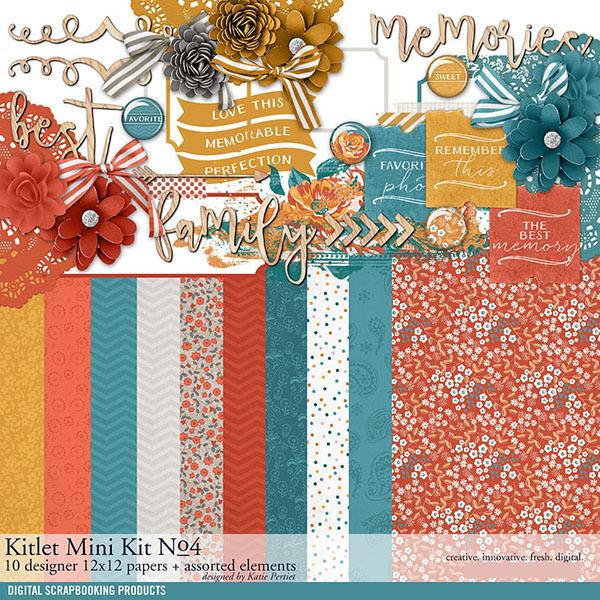 Kitlet Scrapbooking Mini-Kit No. 04 Digital Art - Digital Scrapbooking Kits