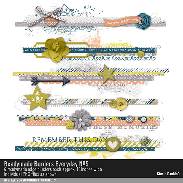Readymade Borders Everyday No. 05 Digital Art - Digital Scrapbooking Kits