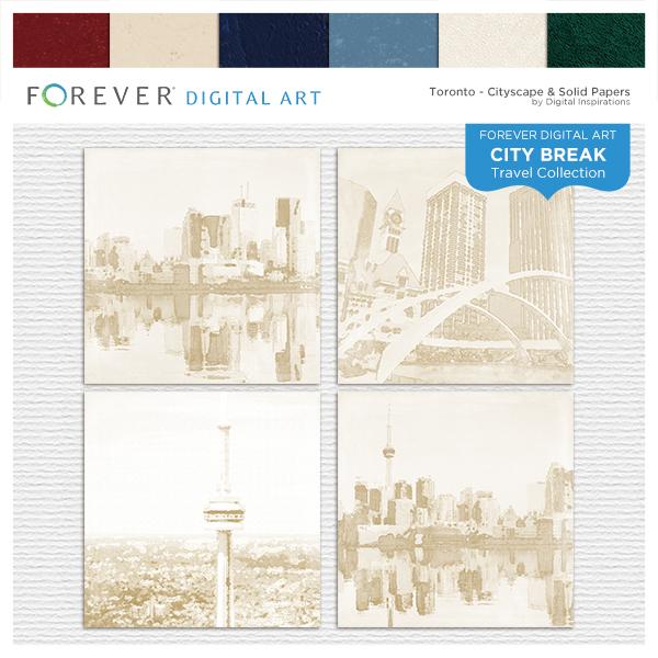 City Break - Toronto -  Cityscape & Solid Papers