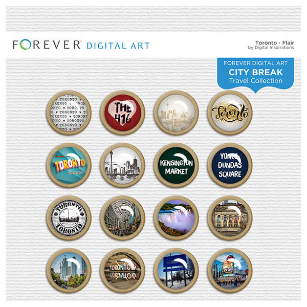 City Break - Toronto -  Flair Digital Art - Digital Scrapbooking Kits