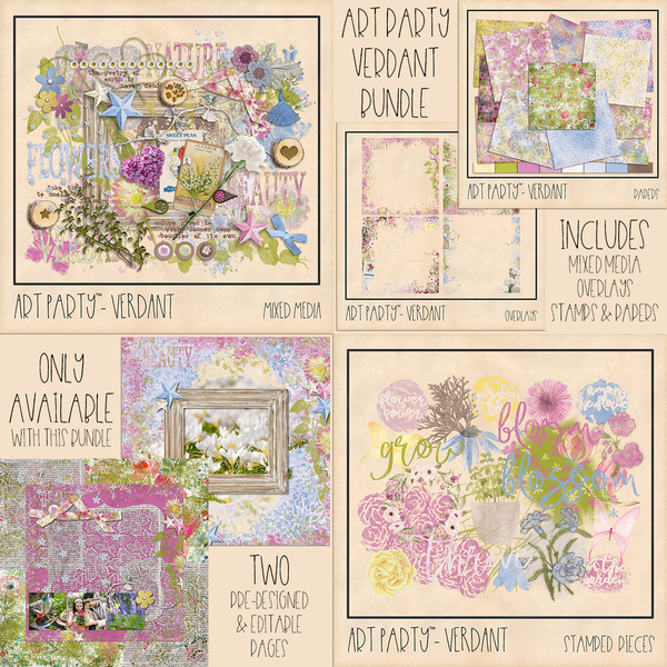 Verdant Complete Collection Digital Art - Digital Scrapbooking Kits