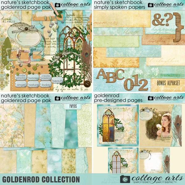 Goldenrod Collection Digital Art - Digital Scrapbooking Kits