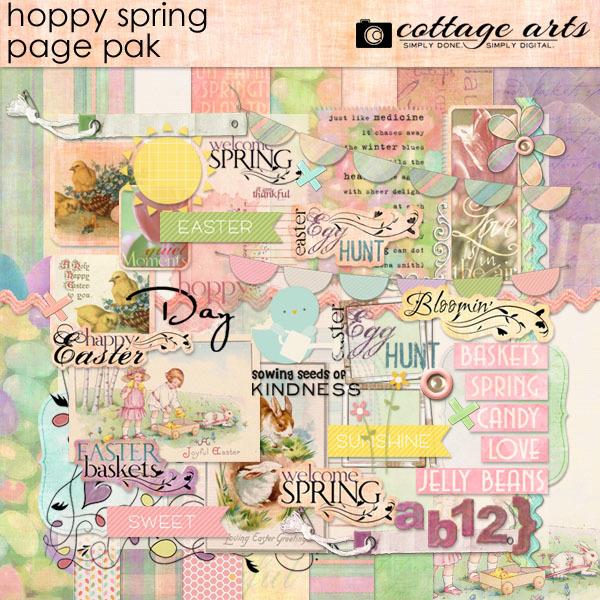 Hoppy Spring Page Pak Digital Art - Digital Scrapbooking Kits