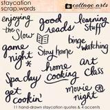 Staycation Scrap.Words