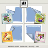 Folded Corner Templates - Spring - Bundle