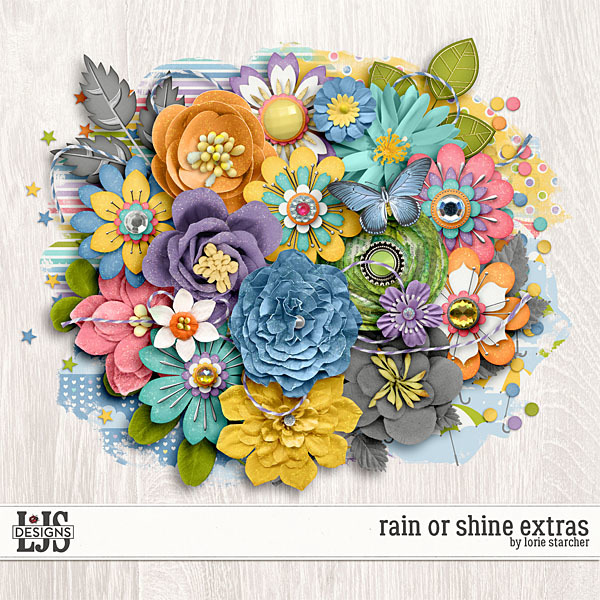 Rain Or Shine Extras Digital Art - Digital Scrapbooking Kits