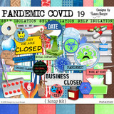 Pandemic Covid-19 Scrap Kit