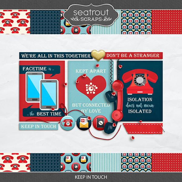 Keep in Touch Digital Art - Digital Scrapbooking Kits