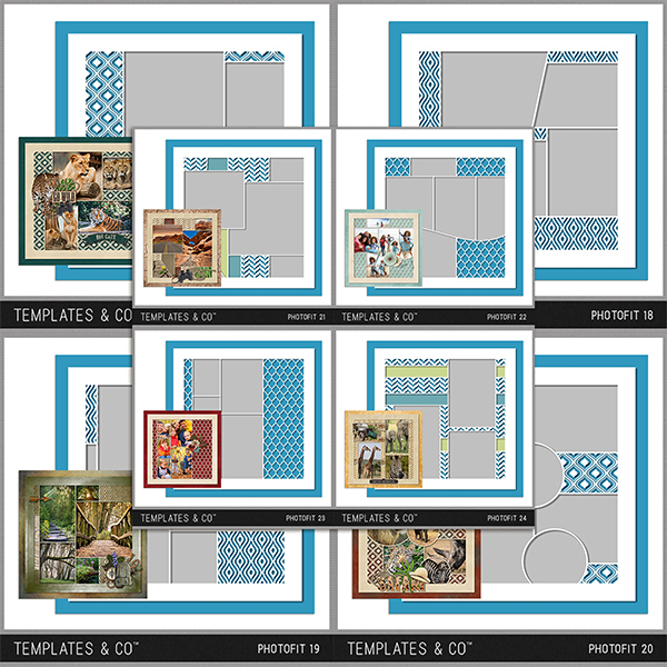 Photofit 17-24 Digital Art - Digital Scrapbooking Kits