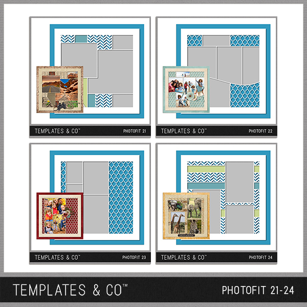 Photofit 21-24 Digital Art - Digital Scrapbooking Kits