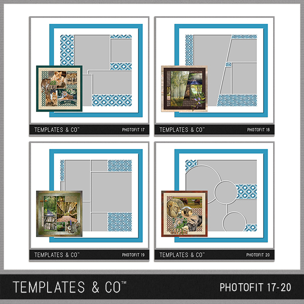 Photofit 17-20 Digital Art - Digital Scrapbooking Kits